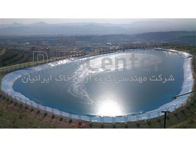 پایدارسازی دیواره استخر ذخیره آب با مش پلی